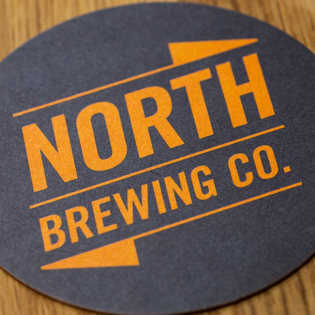 North Brewing Co. Orange Logo Beer Mat Coaster