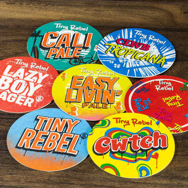 Tiny Rebel Beer Mats