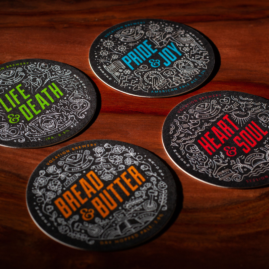 Vocation Brewery Multiple IPA Beer Mats Coasters
