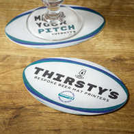 Rugby Ball Beer Mat