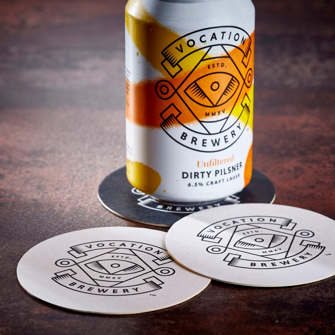 Vocation Dirty Pilsner Beer Mats Coasters
