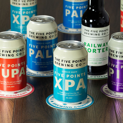 Five Points Cans and Beer Mats