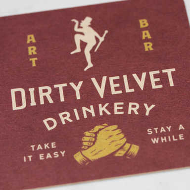 Dirty Velvet Beer Mats