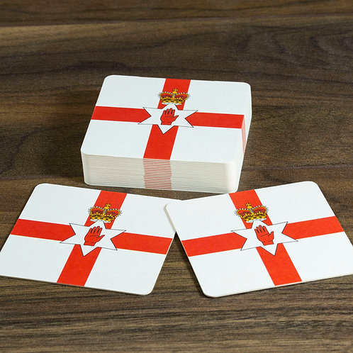 Northern Ireland Flag Beer Mats / Coasters - Ulster Banner