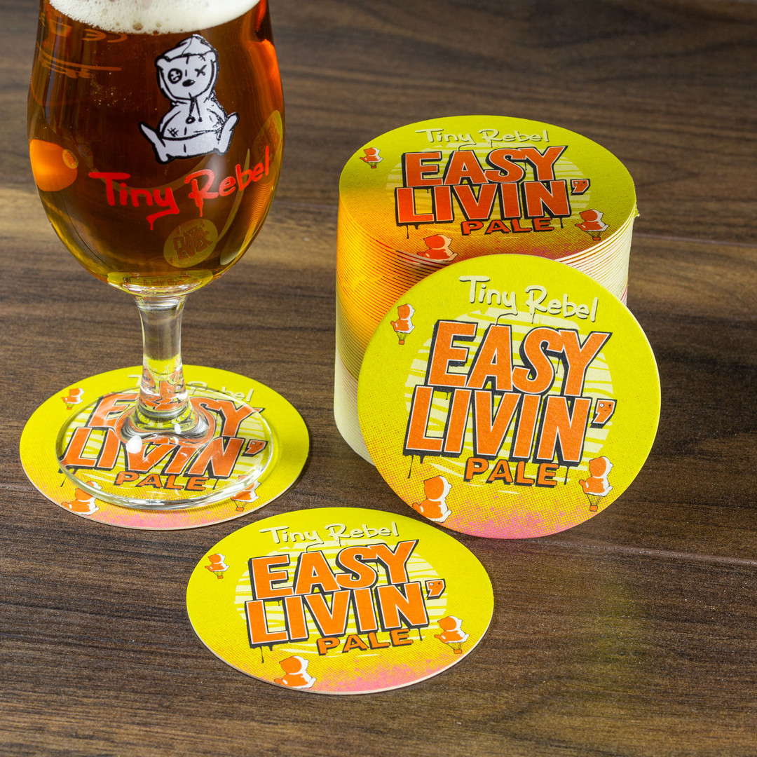 Tiny Rebel Easy Living Beer Mats