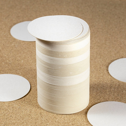 Thirsty's Blank Plain Beer Mats / Coasters - 94mm Round, Various Pack Sizes