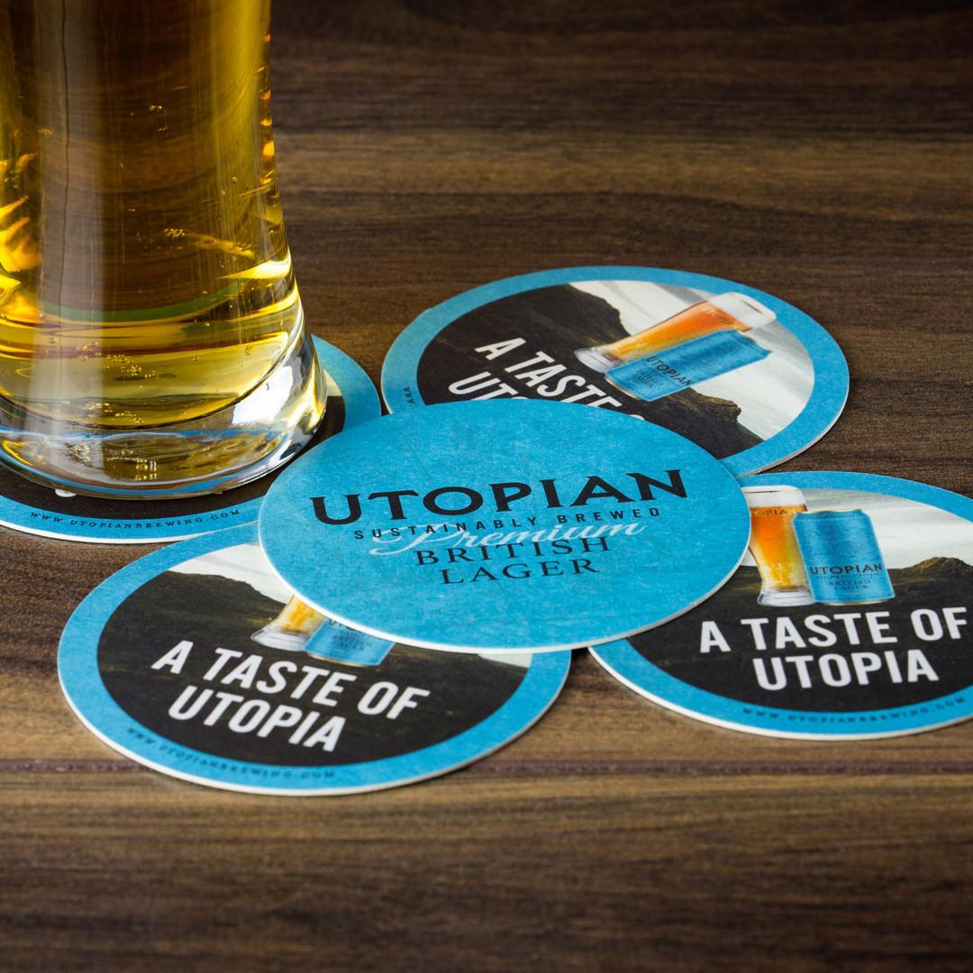 Utopian British Lager Coasters