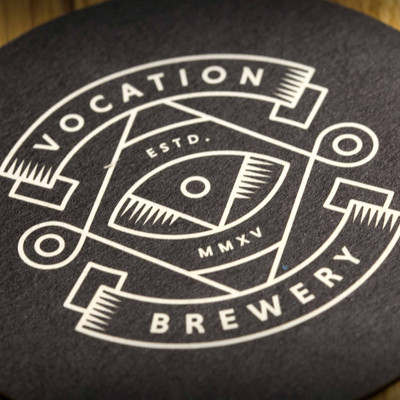 Vocation Brewery Logo Black Beer Mats Coasters