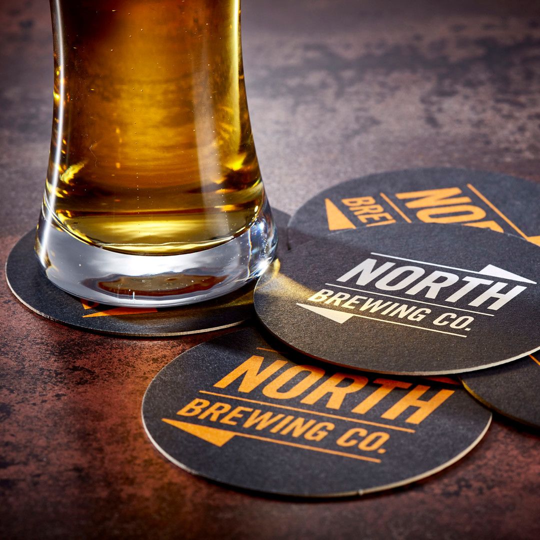 North Brewing Mixed Beer Mats with Pint Beer