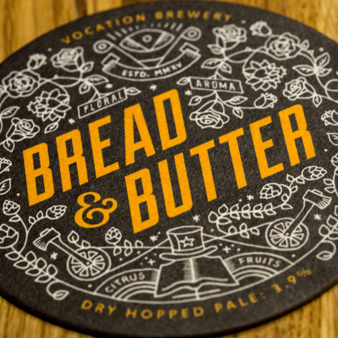 Vocation Brewery Bread & Butter Beer Mats Coasters