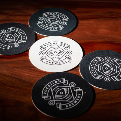 Vocation Brewery Logo Beer Mats Coasters