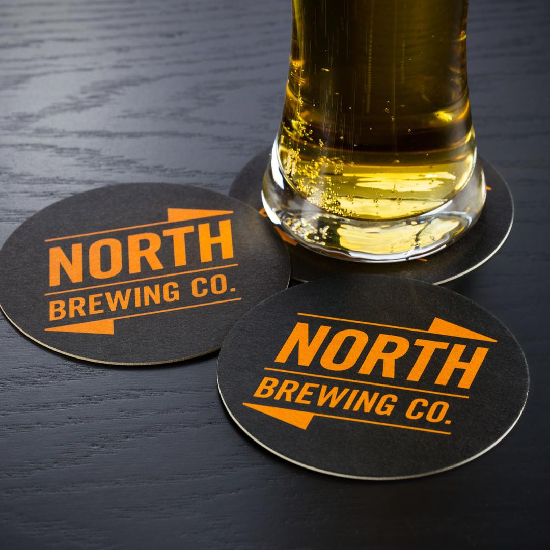 North Brewing Orange Beer Mats