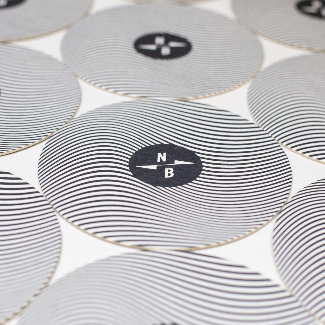 North Brewing Spiral Coaster Printed Sheet