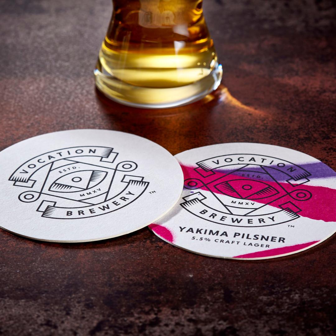 Vocation Brewery Yakima Pilsner Beer Mats Coasters