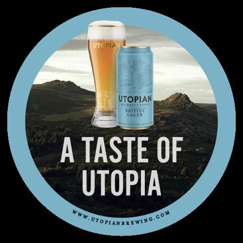 Utopian Lager Taste Beer Mat Front