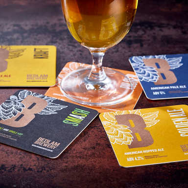 Bedlam Brewery Beer Mats