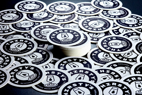 Custom Printed Beer Mats / Coasters -  Square or Round - Qty: 50