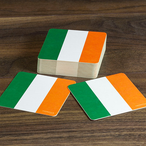 Ireland Flag Beer Mats / Coasters - Irish Tricolour