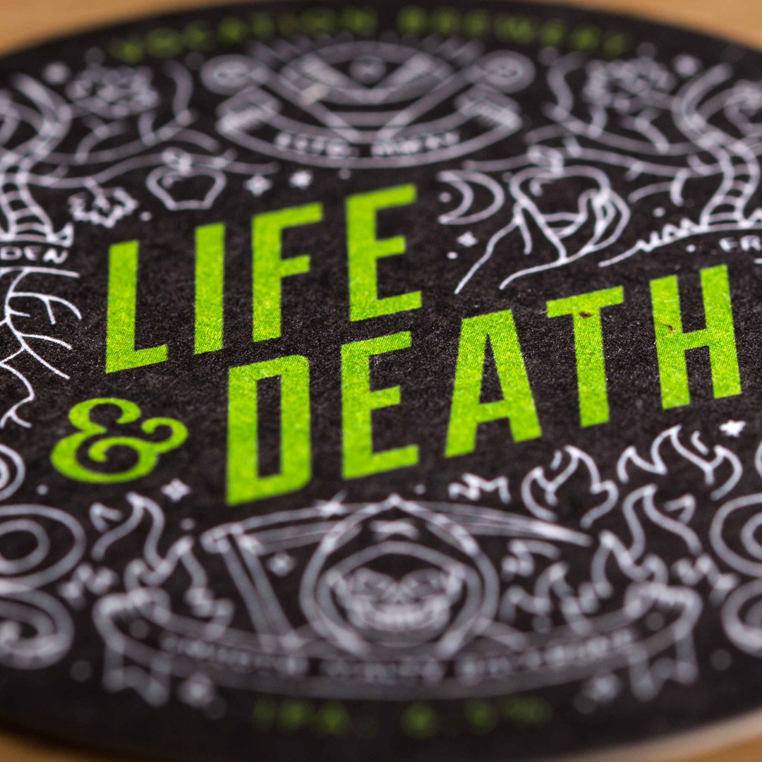 Vocation Brewery Life & Death Beer Mats Coasters