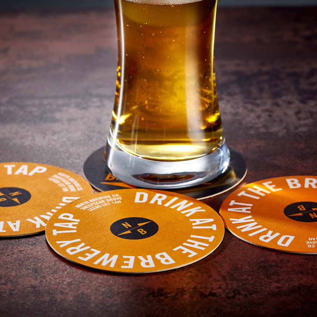 North Brewing Company Printed Beer Mats Orange