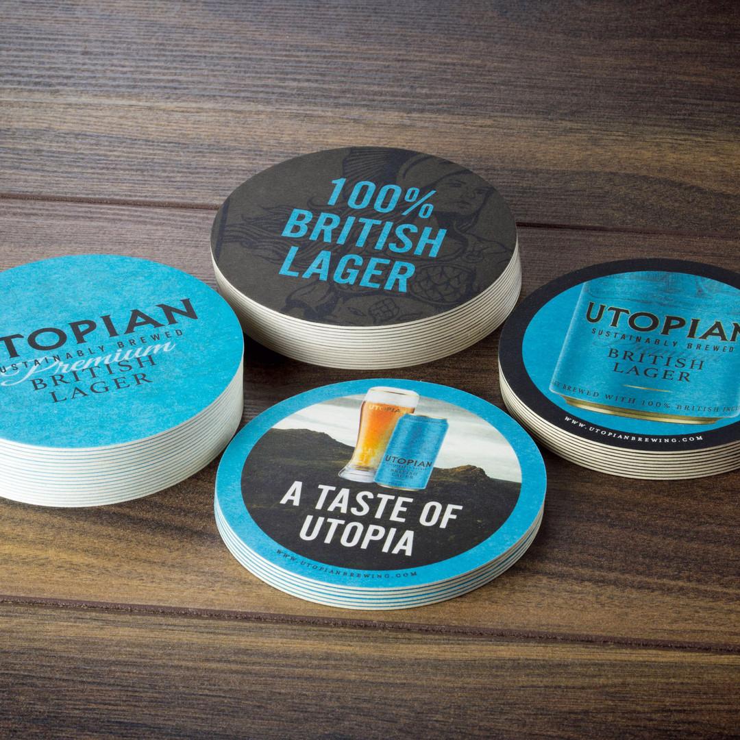 Utopian Lager Beer Mats Mix