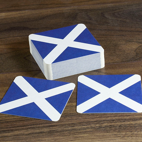 Scotland Flag Beer Mats / Coasters - Saltire/St Andrew's Cross