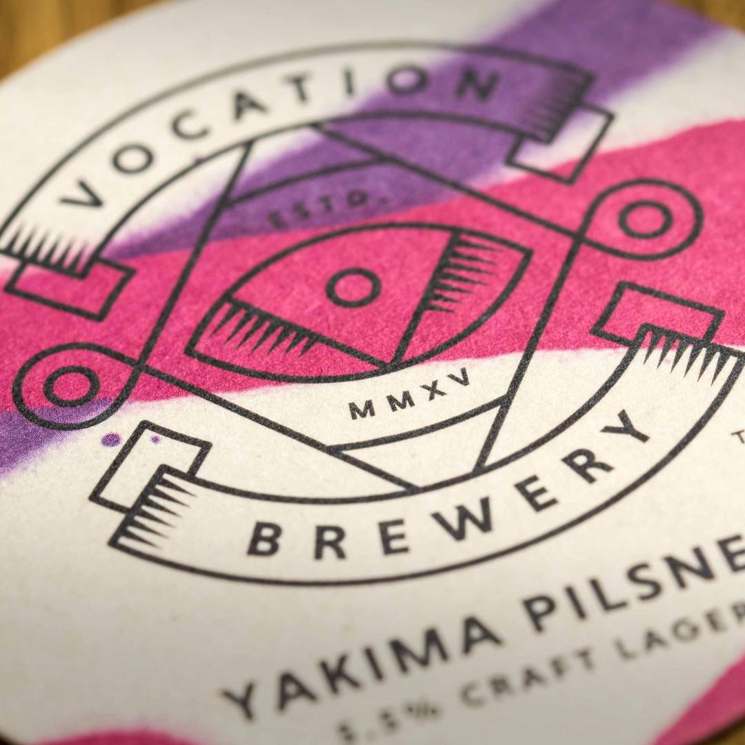 Vocation Brewery Yakima Pilsner Beer Mat Coaster