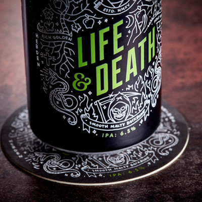 Vocation Life and Death Can Beer Mat