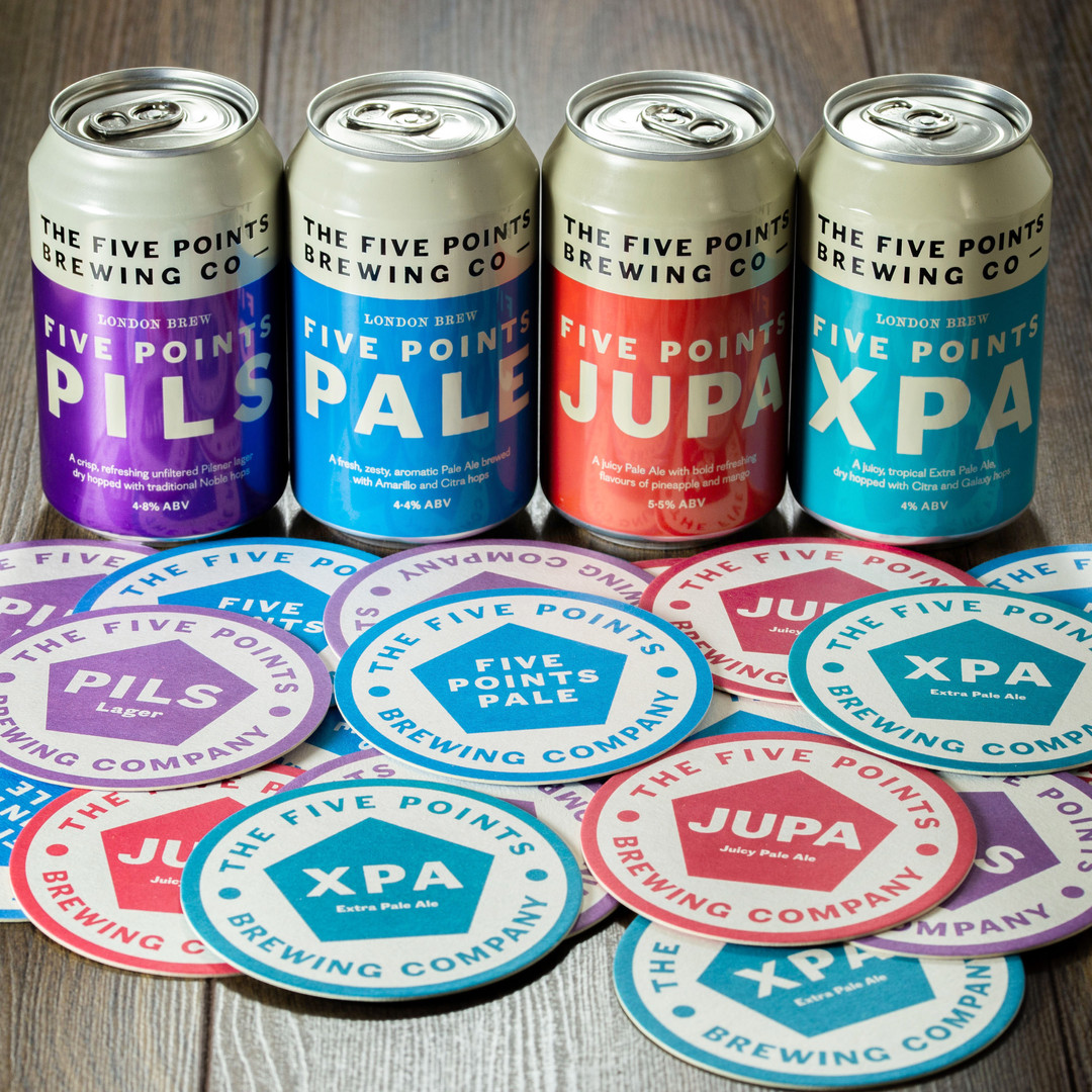 Five Points Brewing Cans Mats