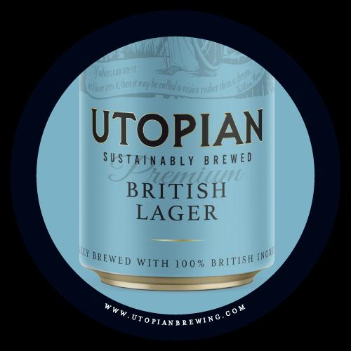 Utopian British Lager Beer Mat Back