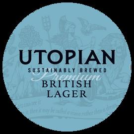 Utopian British Lager Beer Mat Front
