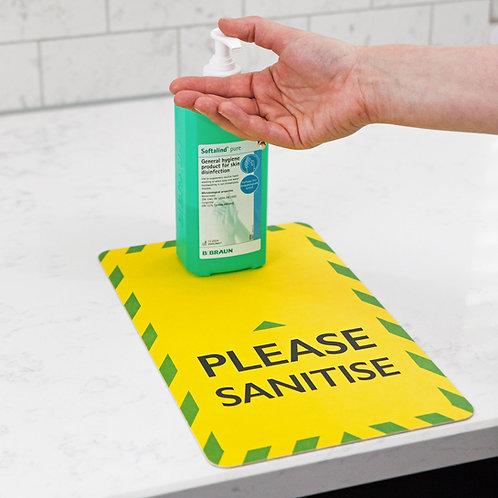 Hand Sanitiser Mats - Absorbent Pulp Board