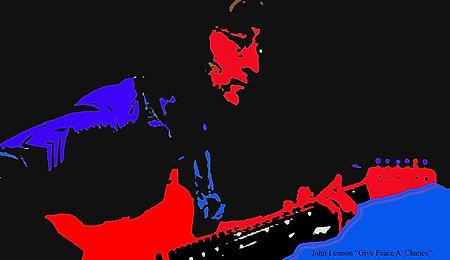 Johm Lennon Give Peace A Chance  13X19.j