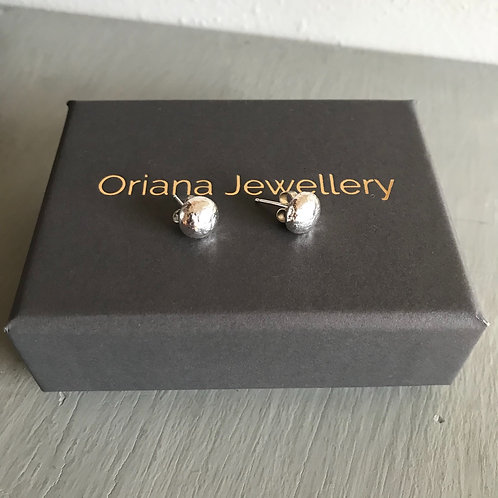 Solid Recycled Silver Studs by Oriana Jewellery