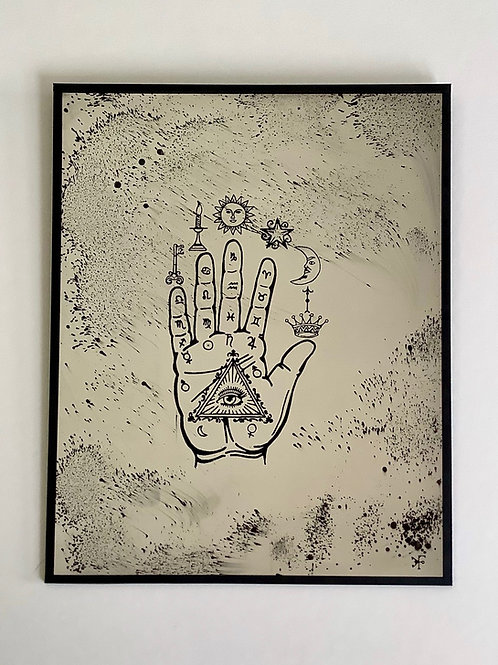 'Hand to Eye' Mirror by Kill Medusa Mirrors
