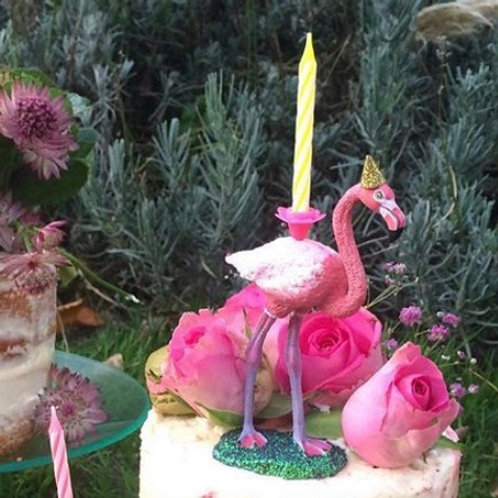 Flamingo Candle Holder by Collage Queen