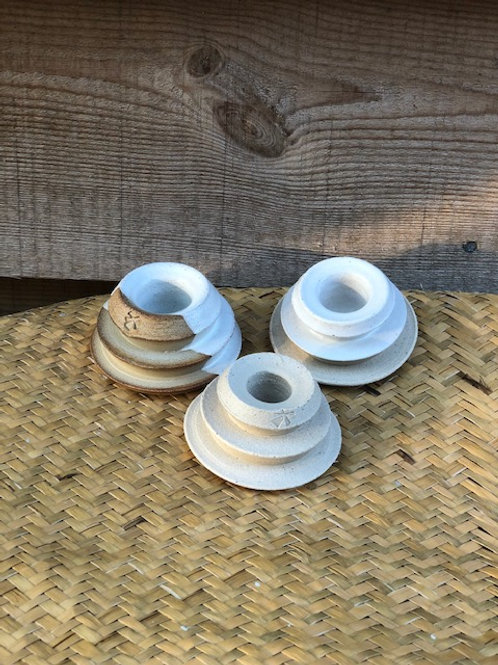 Stoneware Candleholder by Windmill Pottery