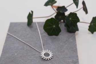 Sterling Silver Sunburst Pendant by Alice Ashton