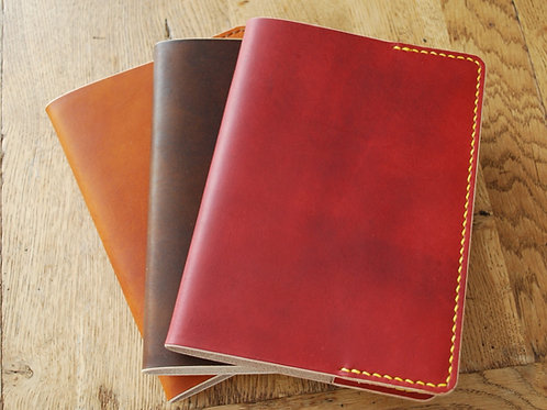 Vegetable Tanned Leather Notebook Cover by Bag & Bone