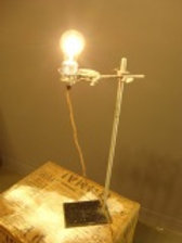 Reclaimed Science Lab Table Lamp