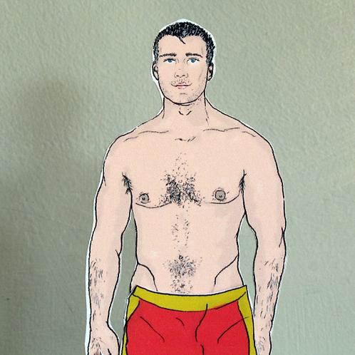 British Men – Beach Patrol Man Paper Doll by Mr Craven: Raconteur