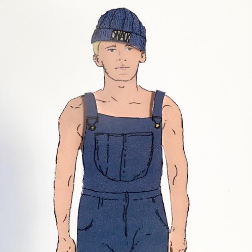 Guy Next Door - Farmworker Paper Doll by Mr Craven: Raconteur