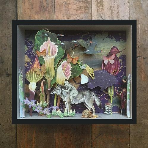 'Underwater Garden' Paper Sculpture Taxidermy by Nikki Ward