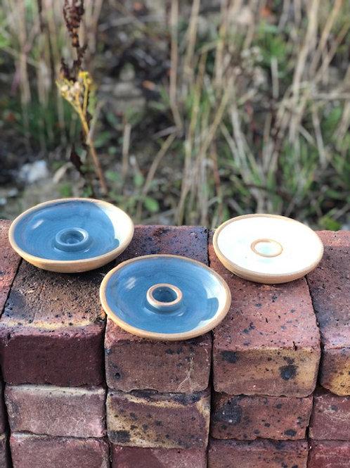 Stoneware Candleholder by Windmill Pottery