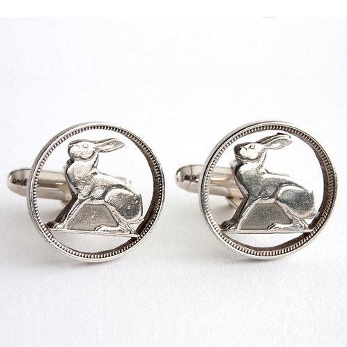 Hare Cufflinks by Rachel Eardley