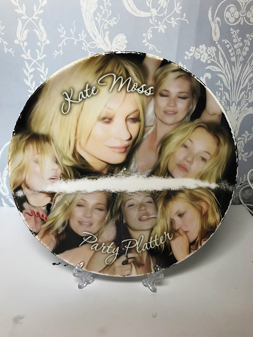'Kate Moss' Plate by Haus Of Lucy
