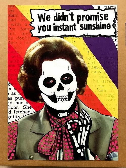 'Mushroom Thatcher' A3 Limited Addition Digital Print by Subvertiser