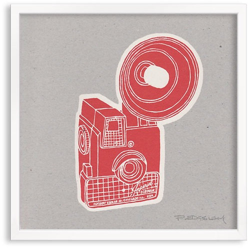 Imperial Cameras Screen Print by Pat Edgeley