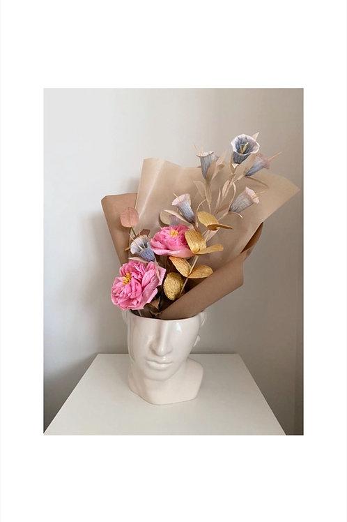 Antique Style Paper Flower Bouquet by PaperFlowerMeadow
