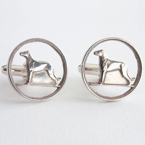 Hound Cufflinks by Rachel Eardley